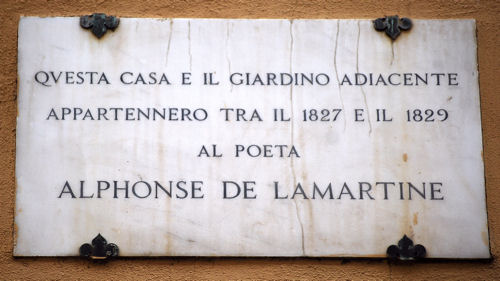 San Lorenzo plaque Lamartine blog