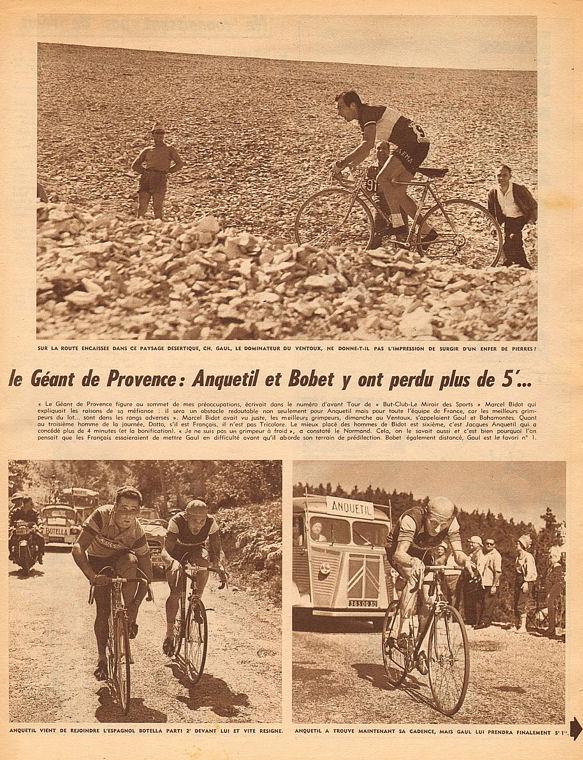Blog MDS Ventoux Gaul  Anquetil Bobet