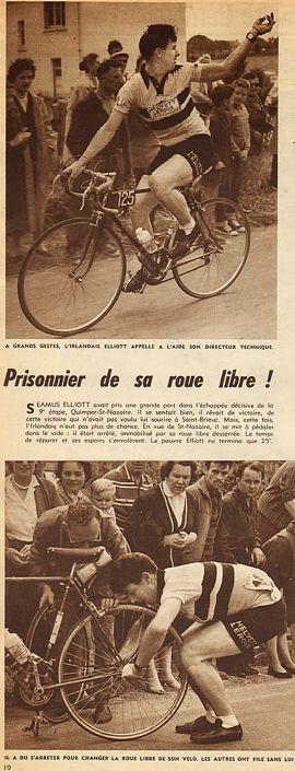 Blog Quimper-St-Nazaire Elliott remet sa roue