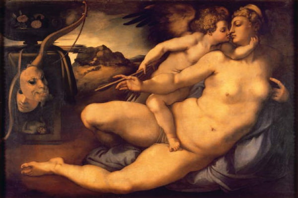 Jacopo Pontormo - Venus and Cupidon