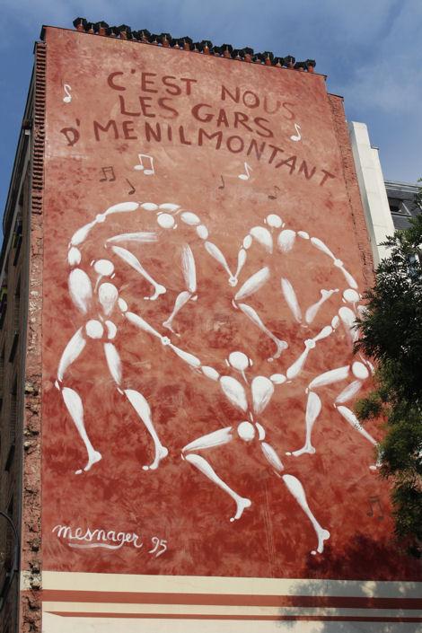 Menilmontant fresque les gars de Menilmontant blog