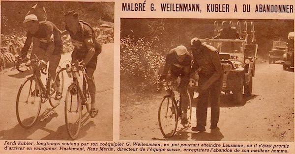abandon de Kubler1949-07-22+-+BUT-CLUB+193+-+36th+Tour+de+France+-+044A