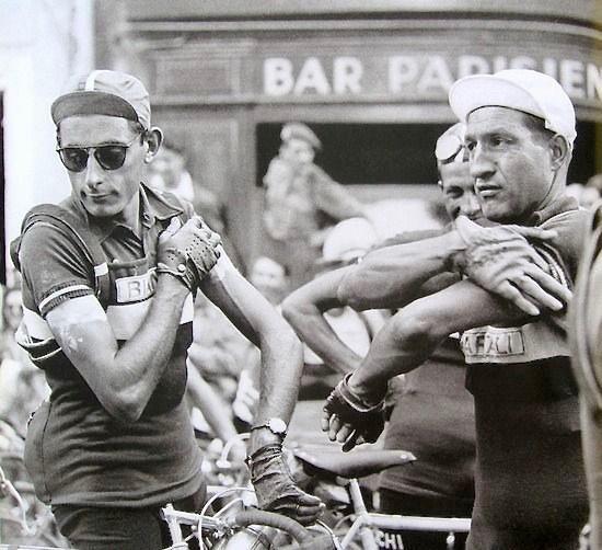 Coppi Bartali au départ de Paris