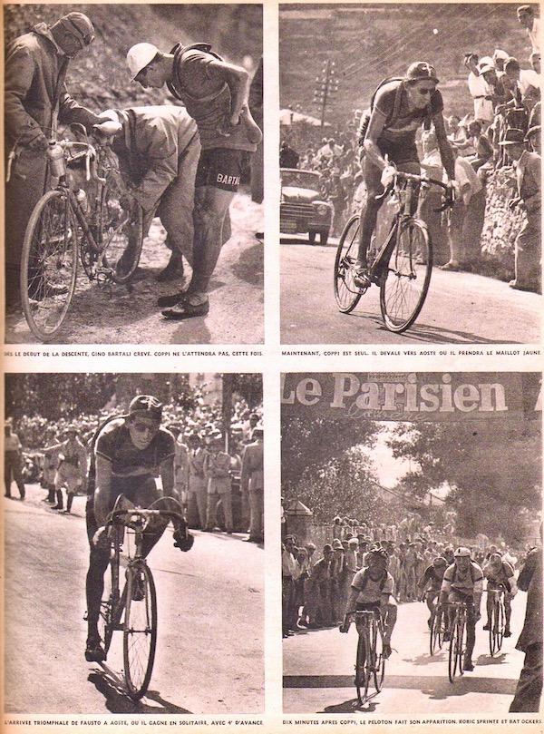 Coppi gagne à Aoste-BC L'histoire du TOUR 1949 57