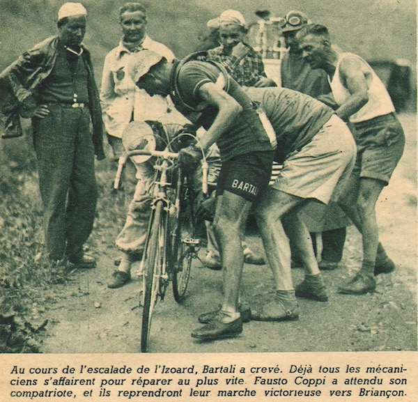 crevaison Bartali Izoard1949-07-20+-+BUT-CLUB+192+-+36th+Tour+de+France+-+032A