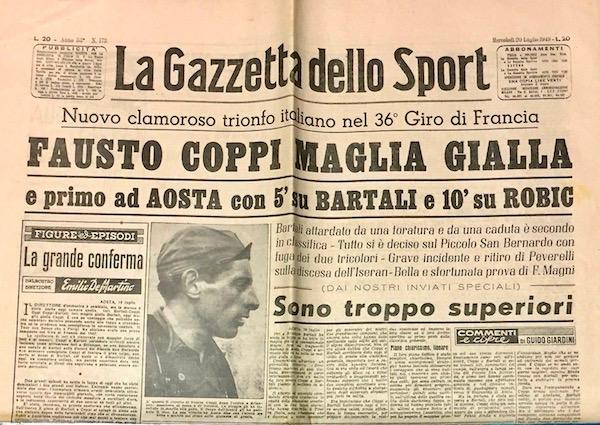 Gazzetta-Dello-Sport-1949-Fausto-Coppi-Maglia-Gialla