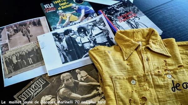 Maillot jaune et souvenirs de Marinelli