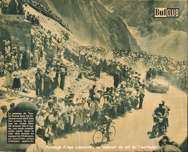 Passage Lazarides sommet Tourmalet1949-07-13+-+BUT-CLUB+190+-+36th+Tour+de+France+-+012A