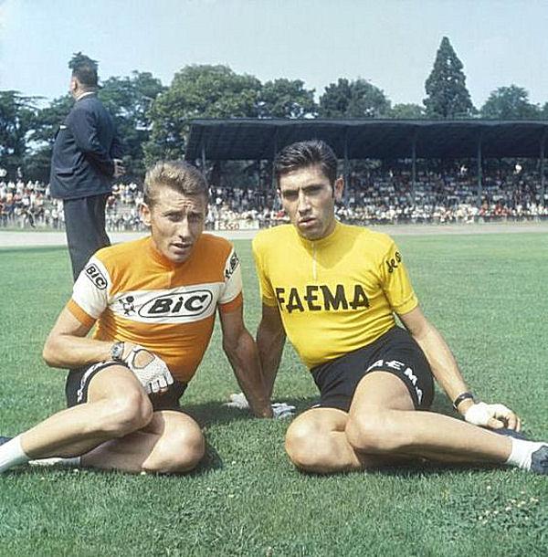 Blog 1969 Anquetil et Merckx apres Tour à la Cipale