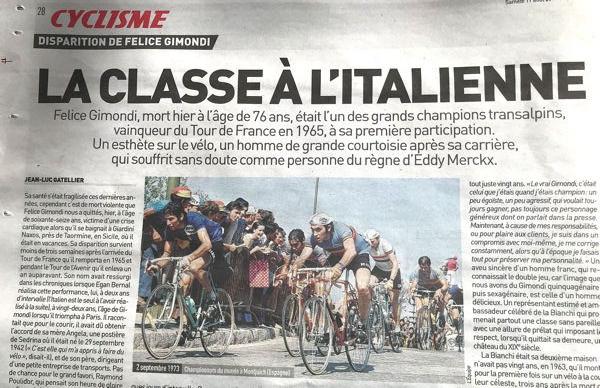 Blog  Gimondi L'Equipe
