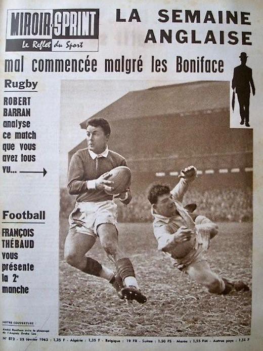 Blog André Boniface février 1963 Angleterre-France