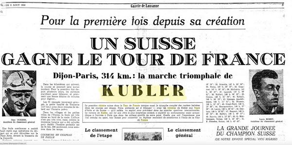 Kubler Gazette de Lausanne