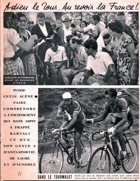 Miroir du TOUR 1950 33 Adieu le Tour Bartali