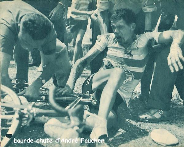 Limoges-Bordeaux chute Foucher