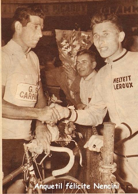 Paris Anquetil félicite Nencini MDS
