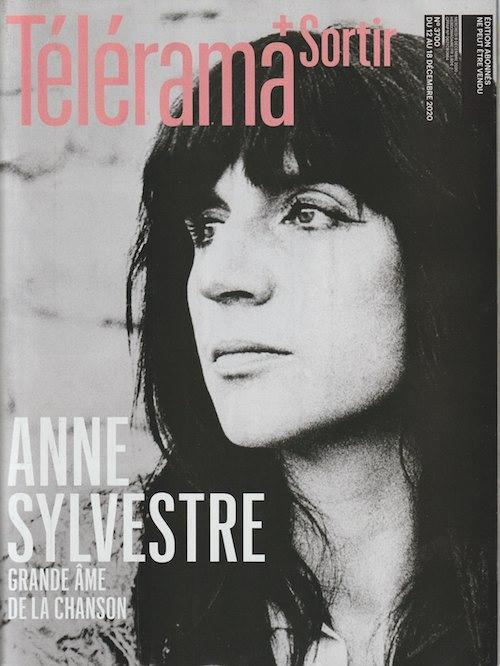 Anne Sylvestre  couverture Télérama
