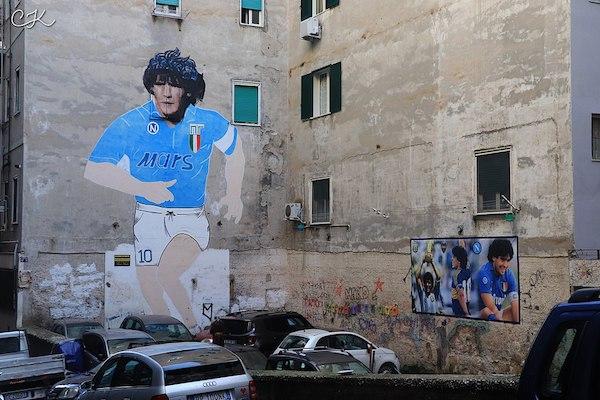Fresque Maradona à Naples