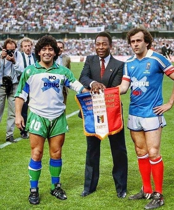 Maradona Pelé Platini