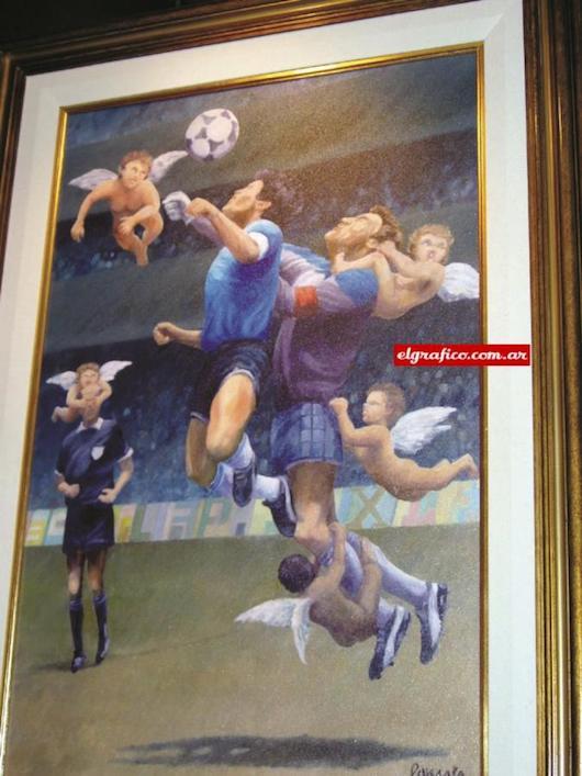 tableau Maradona Main de Dieu