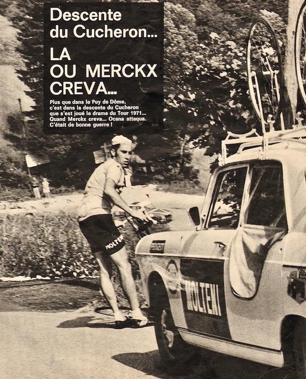 Merckx crève descente Cucheron1971+-+Miroir+du+Cyclisme+-+145+-+23