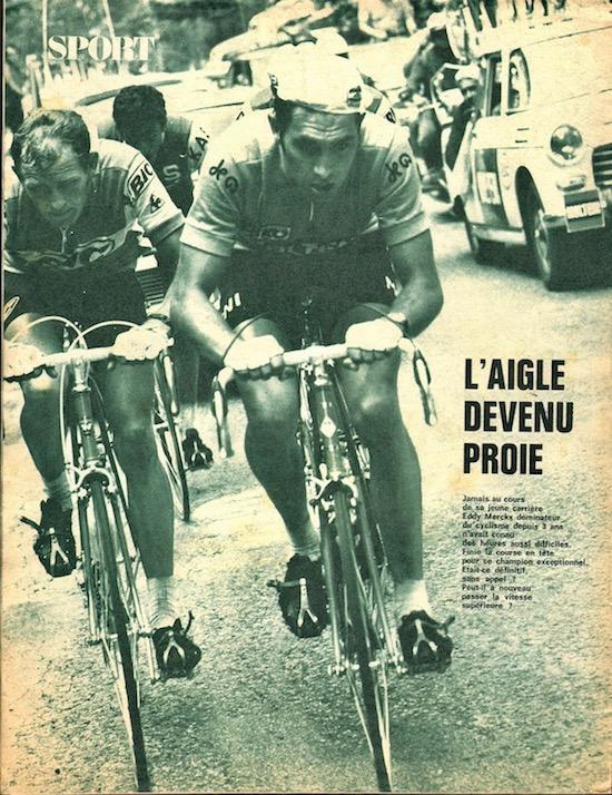 SPORT N° 22 Bis du 10 juillet 1971 20 Merckx  L'aigle devenue proie