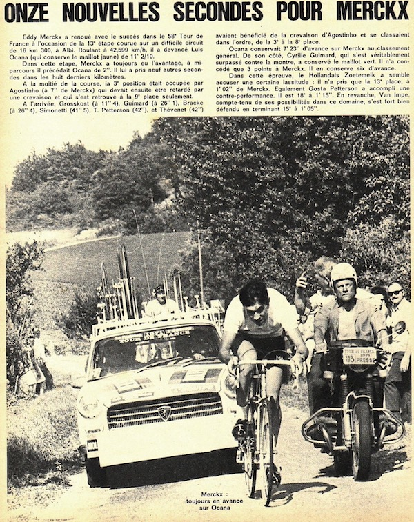 SPORT N° 23 du 14 juillet 1971 20 Albi Contre la montre - Merckx grignote