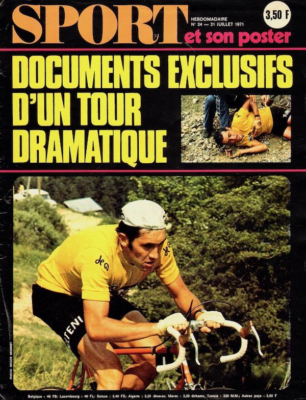 SPORT N° 24 du 21 juillet 1971 01 Merckx en jaune